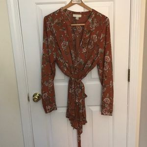 Forever 21 plus size floral blouse